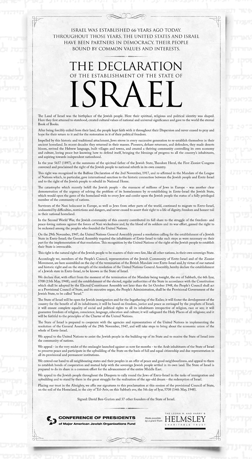 Israel's Declaration of Independence